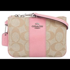 Coach Wristlet with Pink Detailing